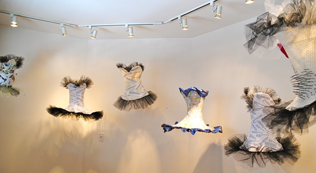 Bodices floating in the Gallery
