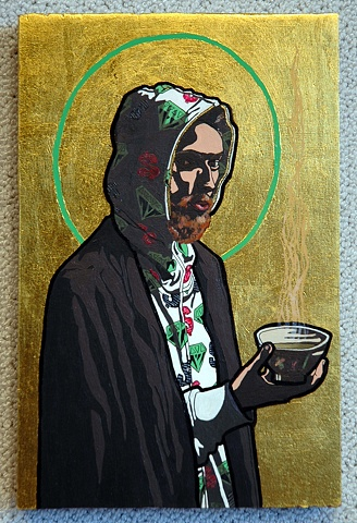 St. Misha with Tea, Patron saint of Russia, creativity and community