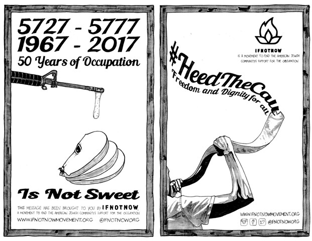 50 Years of Occupation / Heed the Call Wheatpaste Posters