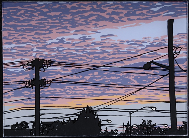 Telephone Poles in Sunset (large)
