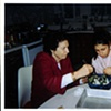 My grandmother and I making the bourekas for the show