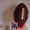 Signed football and Football cards