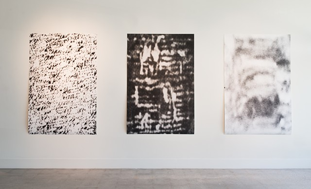Installation view of : Warp, Weft, and Static