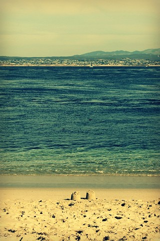beach, sand, castle, ocean, sea, photo, photography, art, krista glavich, monterey, aquarium
