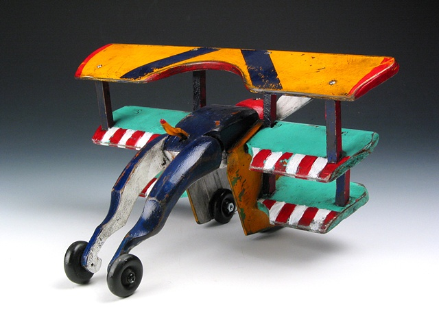Blue Yellow Triplane SOLD