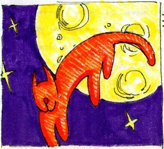 La Chat Dans La Lune