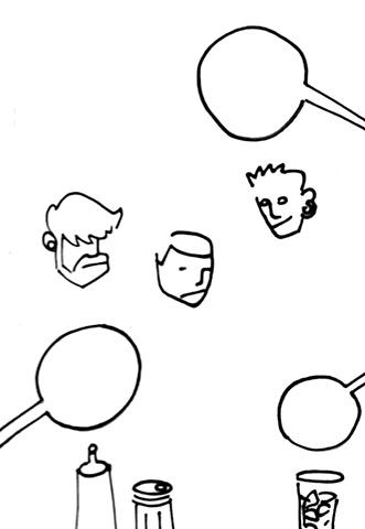 Floating Waiter Heads