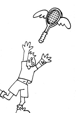 Tennis Career, Flying Off