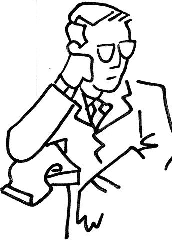 Portrait of A.C. Barnes (after Decherico)