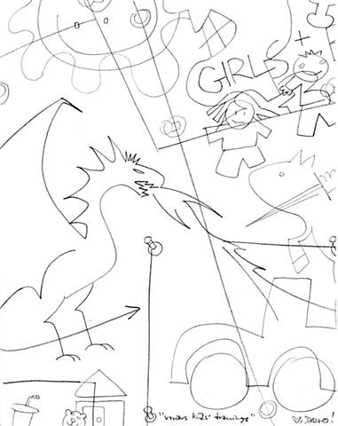 Various Kids' Drawings