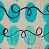 Blue Calligraphic