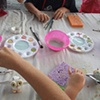 Glazing/Painting day at Birdrock Elementary!