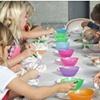 Glazing/Painting day at Birdrock Elementary!
