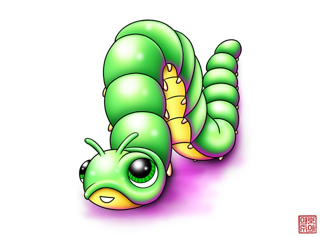 Artwork by Josh Dumphy - Cute Caterpillar Tattoo
