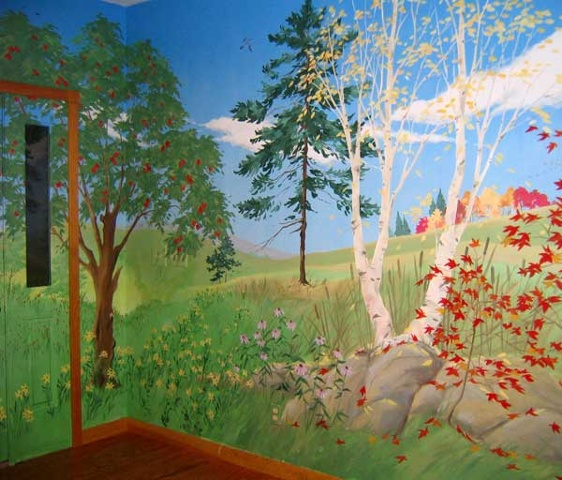 Ann gumpper design for 4 seasons mural