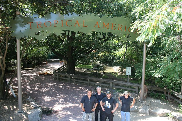 Tropical America Sign for Roger Williams Park Zoo
