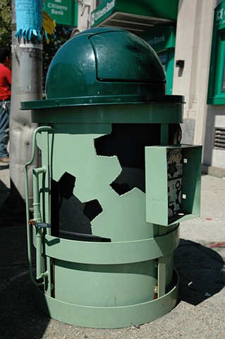 Machine Trash Can for Olneyville Square