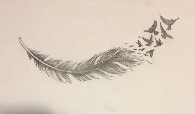 Feather and Birds for Karen (sketch)