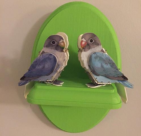 Lovebirds Plaque