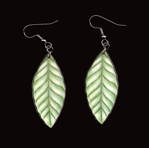 Coffee Leaf Earring