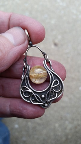 Rutilated Antiquities Pendant