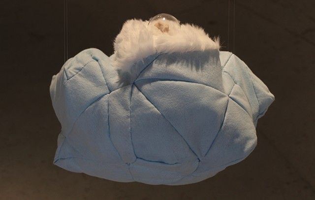sculpture, landscape, felt, sticking, clay, plastic dome, conceptual art, textile, fiber