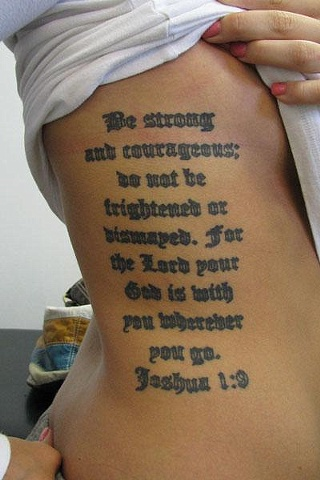 Old English (healed tattoo)