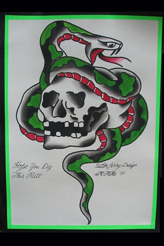 sailor jerry skull and dagger  Sailor Jerry Skull Snake