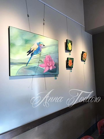 Recent Paintings at the Bryn Mawr Starbucks
