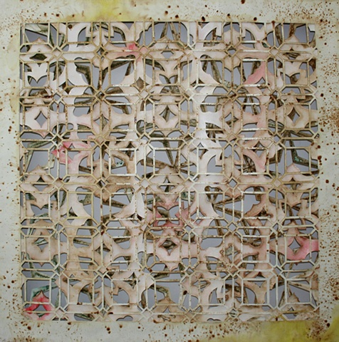 cut paper, paper art, wildflower painting, texas wildflowers