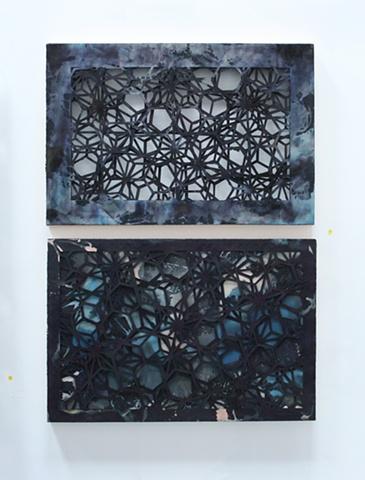 Cut paper, cut paper art, space painting