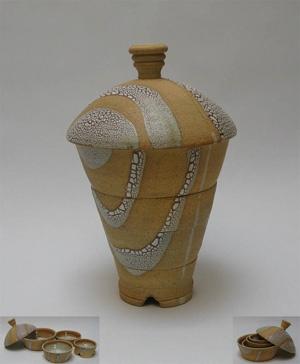 Serial Bowls, crawl glaze