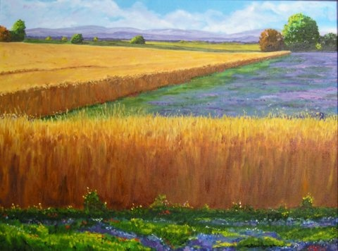 Painting of wheat field