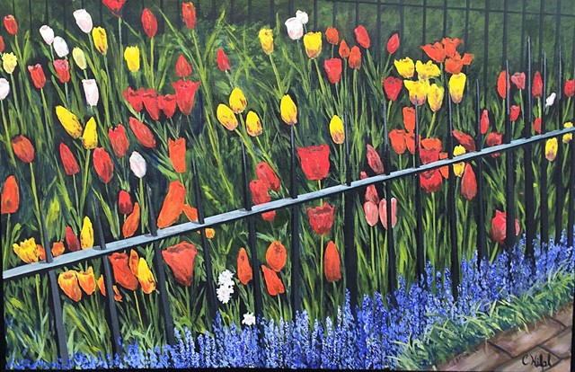 Painting of Tulip Garden