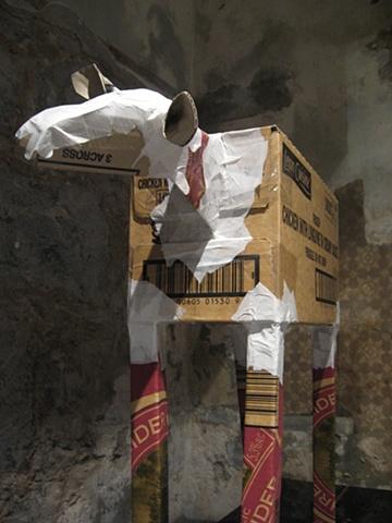 Lone sheep at Eldon Manor exhibition, Enclosure 2009.