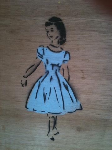 1950's dress pattern stencil