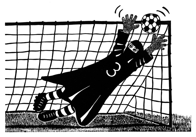 soccer goalie girl burqua