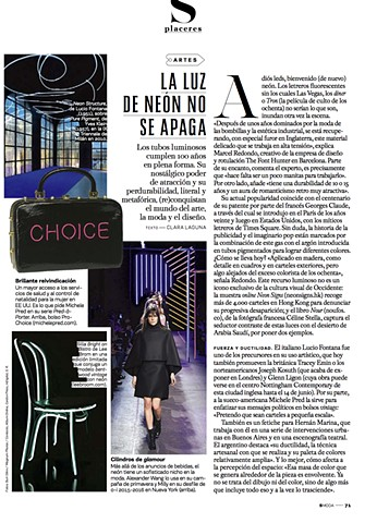 Pro-choice, pro choice, S Moda, El Pais, El wire, Electroluminescent wire