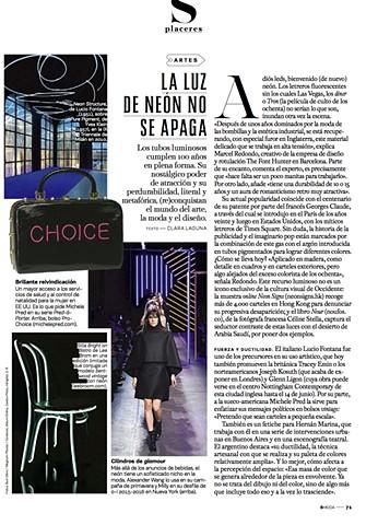 Pro-choice, pro choice, S Moda, El Pais, El wire, Electroluminescent wire