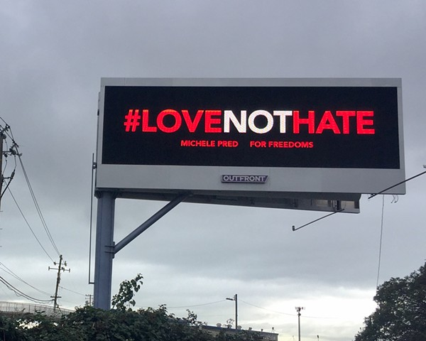 #LoveNotHate