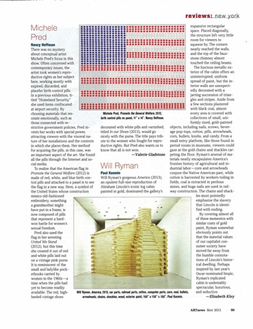 ARTnews, May 2013 Review of Amendment