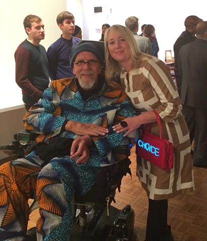With Chuck Close at the Whitney BIennal opening party.