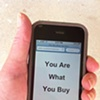 """""""You Are What You Buy""""  One of the hidden messages that appears when you scan my QR Codes."""