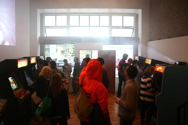 Fliperama Rhapsody- Half Dozen Gallery- Opening night