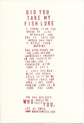 Did You Take My Fish Lure