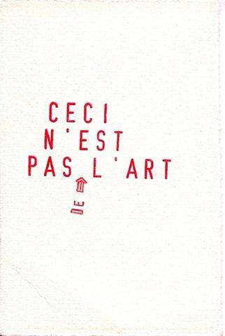 Ceçi n'est pas de l'art