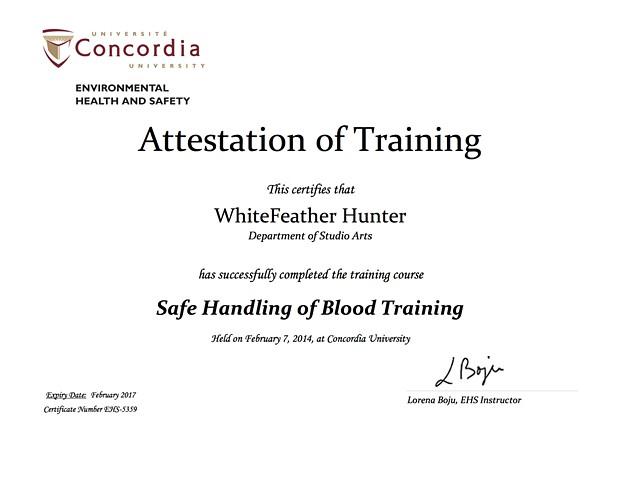 Safe Handling of Blood, Lab Safety Training Certification