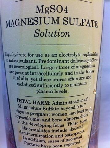 Magnesium Sulfate, detail