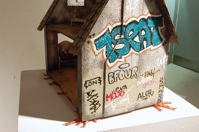 Izbushka Study: St Henri, installation detail