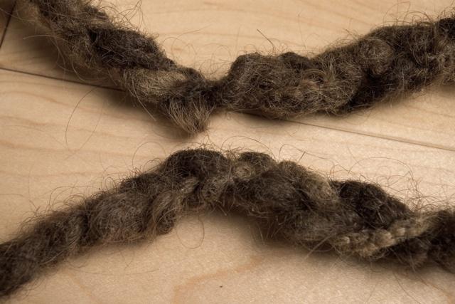 Pull Cord: detail, rope (dreadlocks)